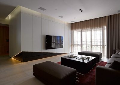 modern tv cabinet with view