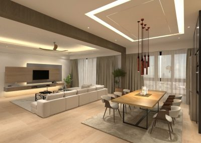 3D Drawing Contemporary Living room