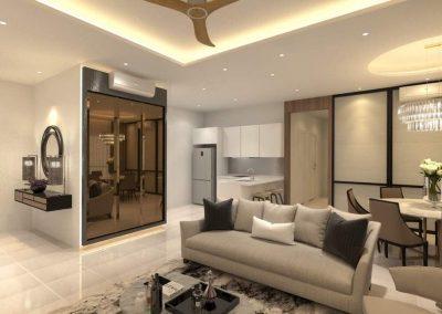 3D Drawing Modern Living Room