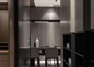 minimalist dark interior design